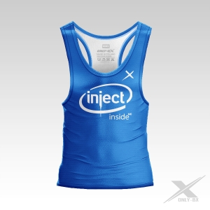 INJECT INSIDE ME BLUE TANK TOP MĘSKI